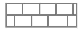 Схема укладки плит в шахматном порядке